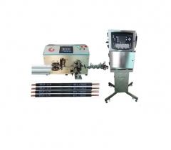 Автомат для резки и зачистки проводов со струйным маркиратором HS-608PMJ